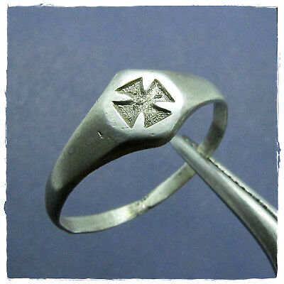 ** CROSS ** ancient  SILVER  BYZANTINE ring !!!