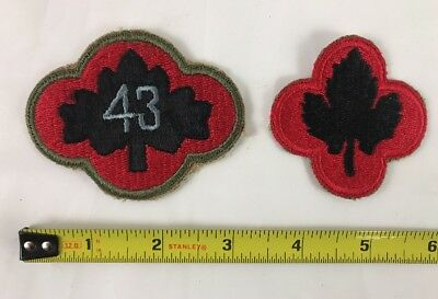 WW2 US Army 43rd Infantry Division Cut Edge Patch Lot- Red Border & Variation