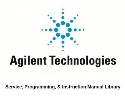 HP Agilent Service, Programming, & Instruction Manual Library