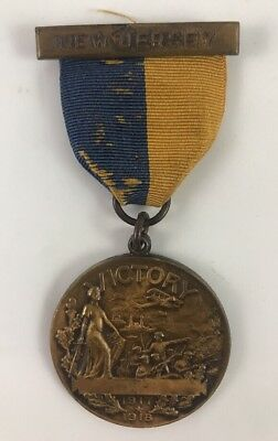 Ww1 Us Army New Jersey Victory Medal 1917-1918