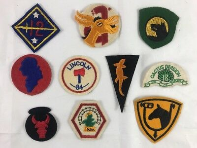WW2 US Military Wool / Felt Scrapbook Removed Patch Lot- Some Rare