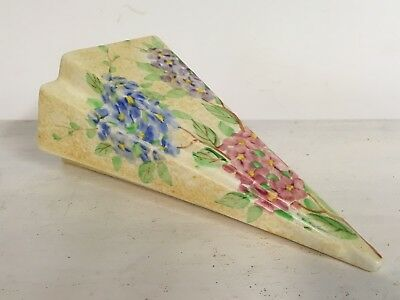 Rare art deco Radford pottery hand painted wall pocket flower vase planter 1930