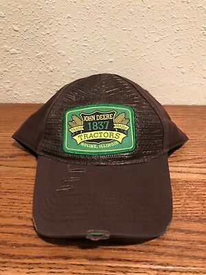 John Deere SnapBack patch rugged look brown Farmer/Trucker Hat