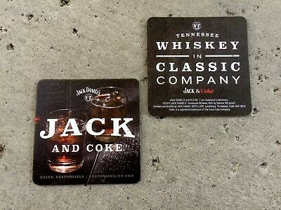 "Jack Daniels And A Coke Genuine Bar Coasters You Recive ""20"" Coasters Free Ship"