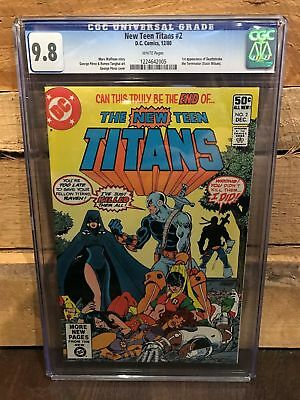 Teen Titans #2 Cgc New 9.8 Nm/mt 1St Deathstroke The Terminator (Id 7618)