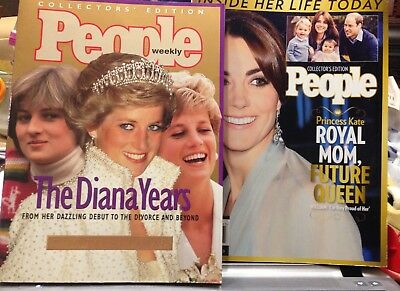 Collector's People Magazines The Diana Years 1996 & Princess Kate 2016