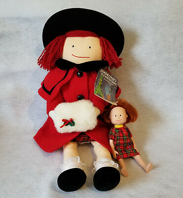 """Madeline Doll: Eden Toys Cloth Christmas Holiday Red Coat Outfit 1990 Large 20"""""""