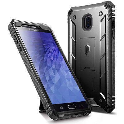 Samsung Galaxy J7 Case | Rugged Shockproof Cover w/Built-In Kick-stand Black