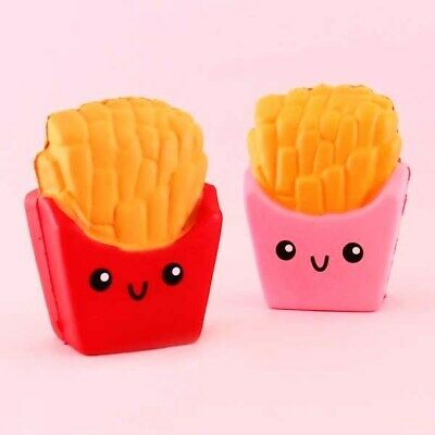 Cute Large Squishy French Fries Fast Food Chips Box Kawaii Slow Rising Squishies
