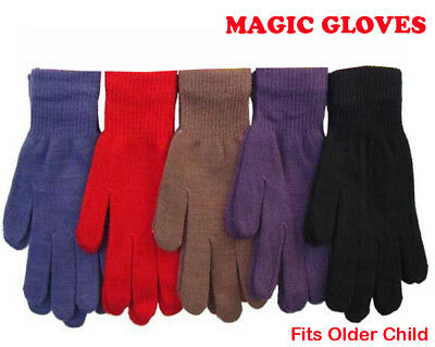 Kids Magic Gloves Winter Warm Girls Boys Stretchy Soft Unisex fits older Child