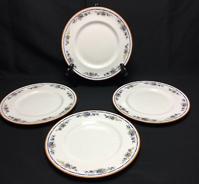"Royal Doulton England Dinner Plates 10"" Lot 4 Orleans H913 Floral Early 1900s"