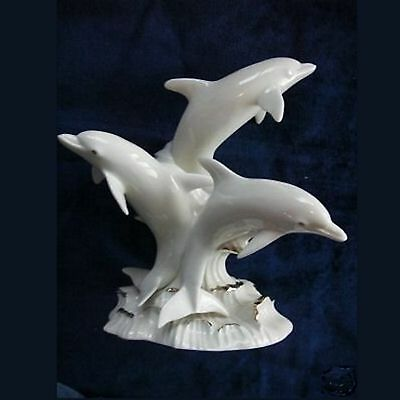 Lenox Fine China w/ Gold Accents Dolphin Sculpture - Dolphins of Splendor - NEW