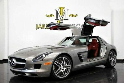 2012 Mercedes-Benz SLS AMG GULLWING **ONLY 6100 MILES**AMG ALU-BEAM SILVER** 2012 MERCEDES SLS AMG GULLWING ~ ONLY 6100 MILES ~ AMG ALU-BEAM SILVER ON RED!