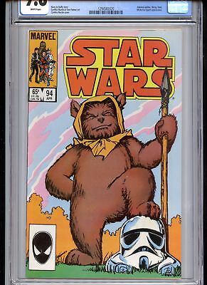 Star Wars #94 CGC 9.8 Classic Ewok Cover White Pages