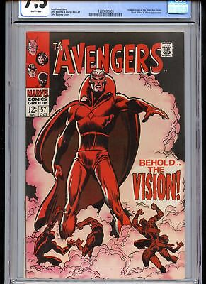 Avengers #57 CGC 7.5 1st Vision White Pages