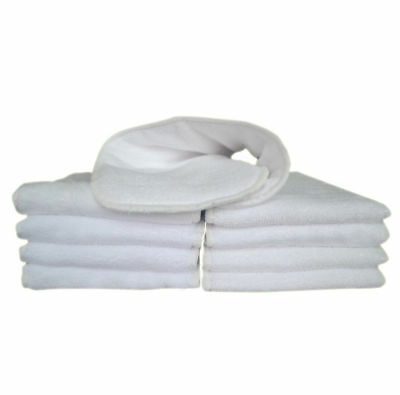 5 Pcs NEW Healthy white Baby Cloth Washable Diapers Nappy Liners Inserts 3 layer