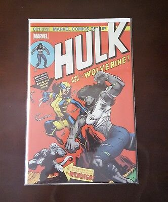 001 Variant Edition Hulk # 1 Only 3000 ever printed* Unique* Homage to Hulk 181