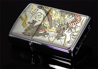 """Zippo lighter Collectible Japanese pattern Design """"Dragon"""" from JAPAN Model! F/S"""