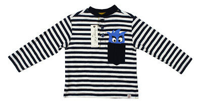 New Infant Boys Sovereign Code Striped Long Sleeve T Shirt Tee Top 12M