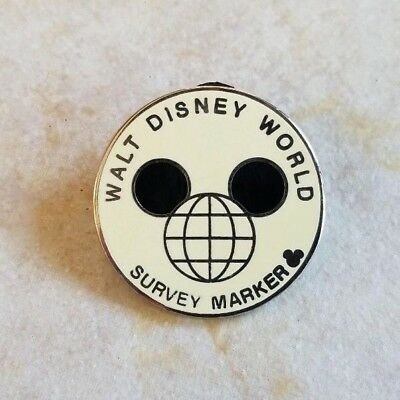 Pin Trading Disney Pins 2008 Walt Disney World Survey Marker Hidden Mickey Icon