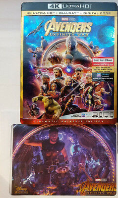 Avengers: Infinity War UHD 4K+LITHOGRAPH+Blu-ray+EMBOSSED SLIP COVER, No Digital