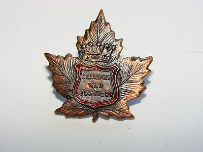 Canada WW2 Collar Badge The Salvation Army Canadian War Services