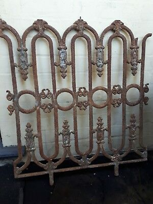 Antique victorian set/3 cast iron lace panels./for a verandah, balcony or fence.