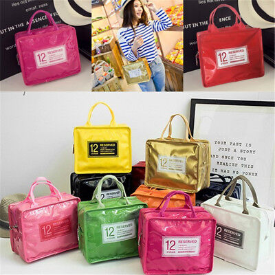 Waterproof PU Food Insulated Lunch Tote Thickened Water Cooler Bags Outdoor
