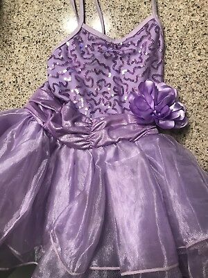 Toddler 3t/4T Purple Sequin Dance Tutu Leotard