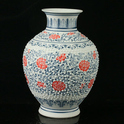 China Pastel Porcelain Hand Painted Vase Mark As The Qianlong R1078.a