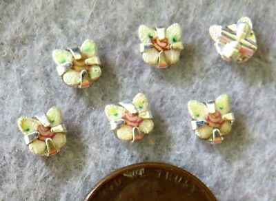 Vintage Beads Sew On Guilloche Butterfly Embellishment Florals 5mm