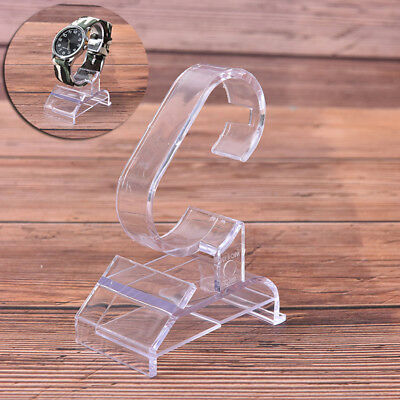 1pc transparent plastic clear jewelry bracelet watch display stand holder RS