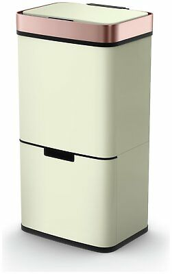 Morphy Richards 75 Litre Recycle Bin - Cream and Rose Gold