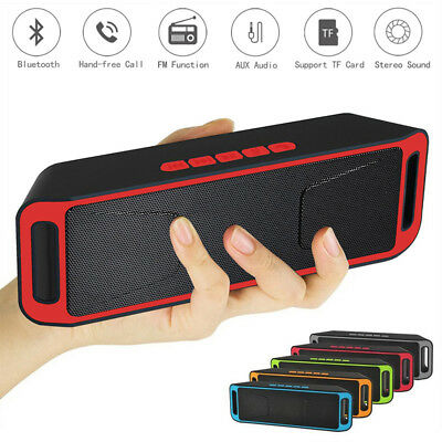 Portable Wireless Bluetooth Speaker USB Flash Stereo Bass MP3 Player FM Radio