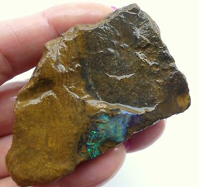 Australian Boulder Opal, Solid Natural Unpolished Rough Gemstone, Specimen 9157