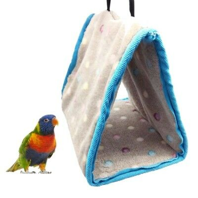 Bird Hammock Hanging Cave Cage Plush Snuggle Happy Hut Tent Bed Bunk Toys Gifts
