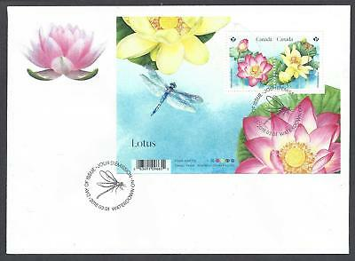 2018 Lotus Limited FDC with the Souvenir Sheet