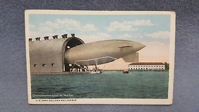 International Film Service U.S. Army Balloon and Hanger Postcard
