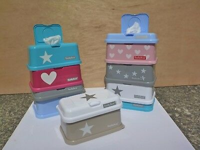 Baby wipes dispenser boxes 1x Large and 1x ToGo set, 2nds only, Funkybox