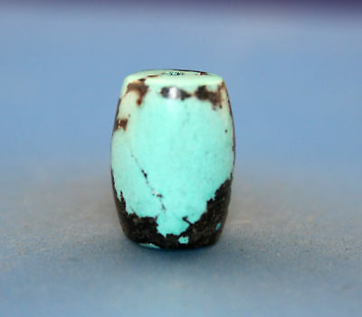 19*14 mm Antique Undressed dzi turquoise old Bead from Tibet **Free shipping**
