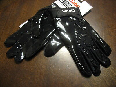 New Wilson Mvp Receiver Adult Small Black Football Gloves-For Wr,rb,db, Or Qb