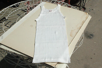 Vintage 1930s 40s Athletic Ribbed Undershirt Tank Top Size 18 Sears Boyville