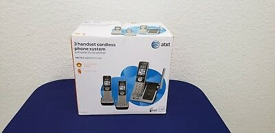 AT&T CL81301 DECT 6.0 Cordless Phone Silver Grey Caller Waiting 3 Handsets