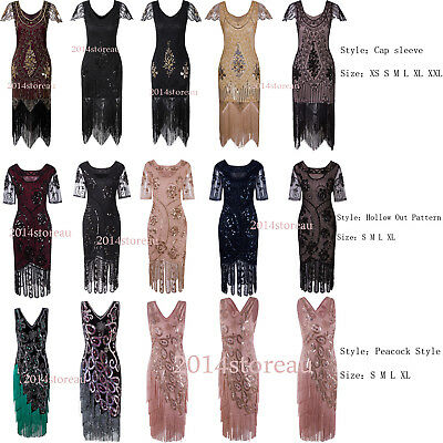 Vintage Costume 1920s Flapper Gatsby Wedding Party  Prom Tassel Cocktail Dresses