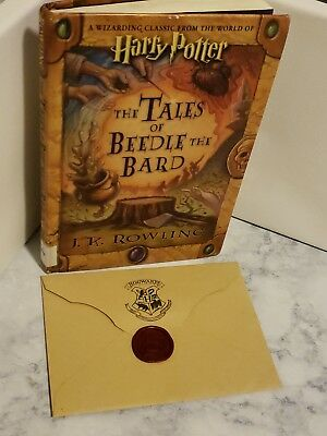 ( Harry Potter ) The Tales of Beedle The Bard + Hogwarts Invitation letter