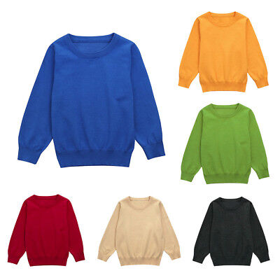 Kids Toddler Boy Girl Long Sleeve Knitted Sweater Tops Blouse Pullover 0-6Y