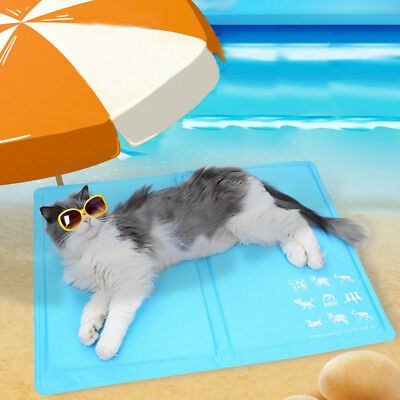 Pets Summer Cooling Mats For Dogs Cats Ice Pad Blanket Portable Camping Sleeping