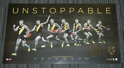 Dustin Martin Richmond Tigers 2017 Afl Brownlow Medal Signed Unstoppable Print