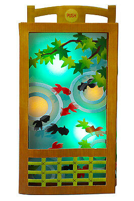 Goldfish Water Garden Lights and Sounds Pop Up Greeting Card