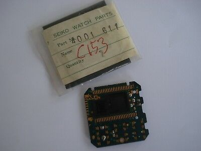 Vintage Seiko C 153 - 5007 Lcd Parts Circuit Made In Japan